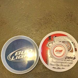 Bud Light Serving Tray and Bud Chip and Dip Holder